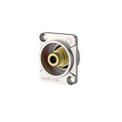 Chassis phono (RCA) socket, Nickel plated shell RF2C-NG